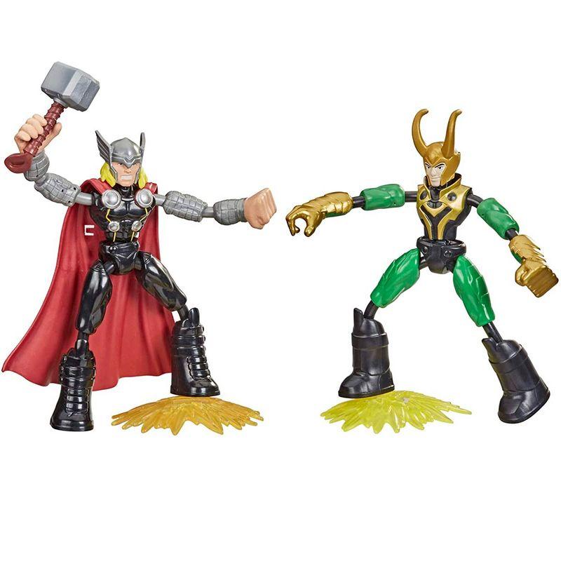 Los-Vengadores-Bend-and-Flex-Thor-vs-Loki