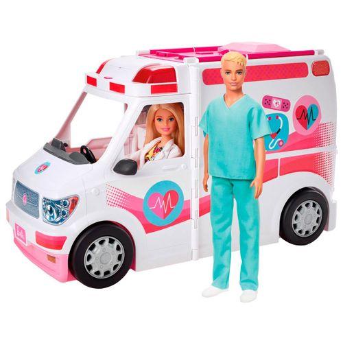 Barbie y Ken con Ambulancia