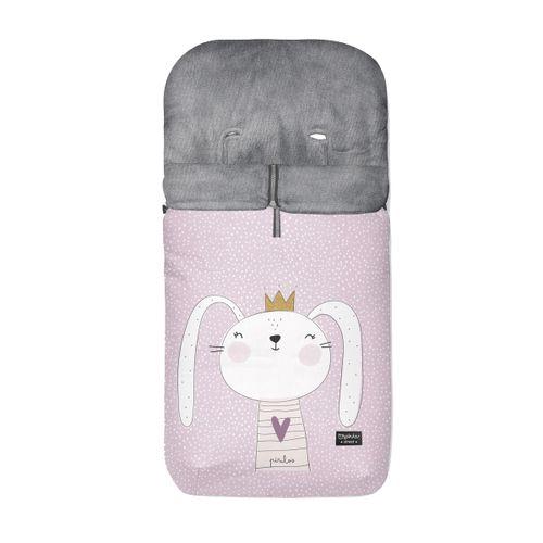 Saco silla polar conejita rosa