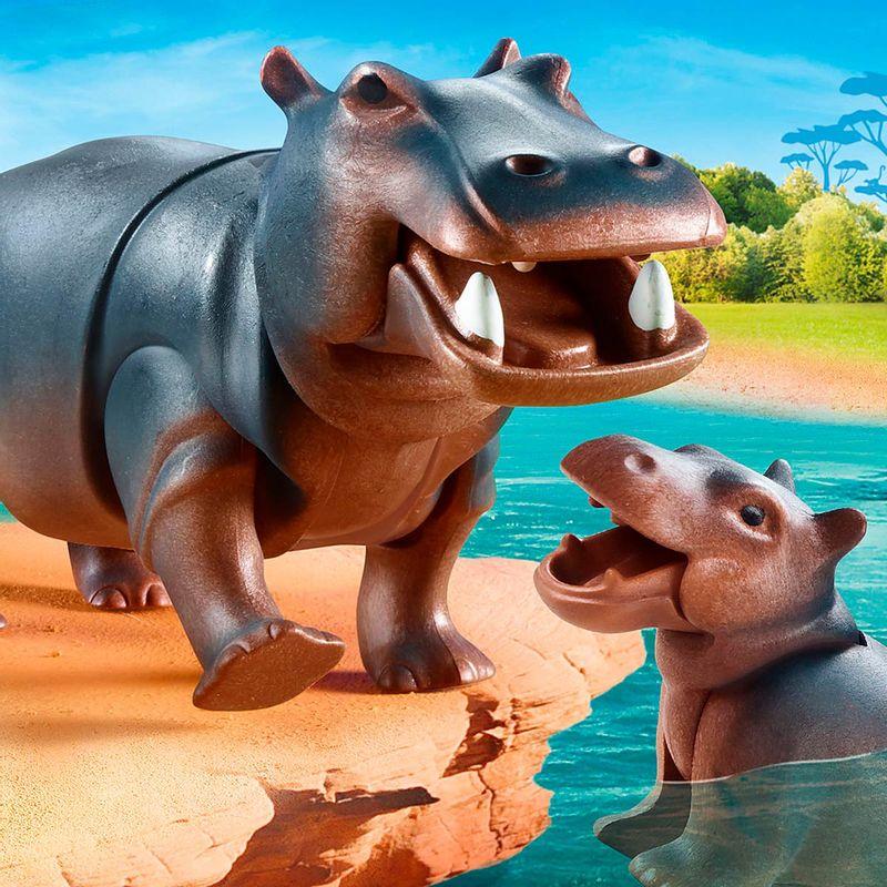 Playmobil-Family-Fun-Hipopotamo-con-Bebe_1