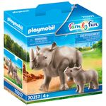 Playmobil-Family-Fun-Rinoceronte-con-Bebe