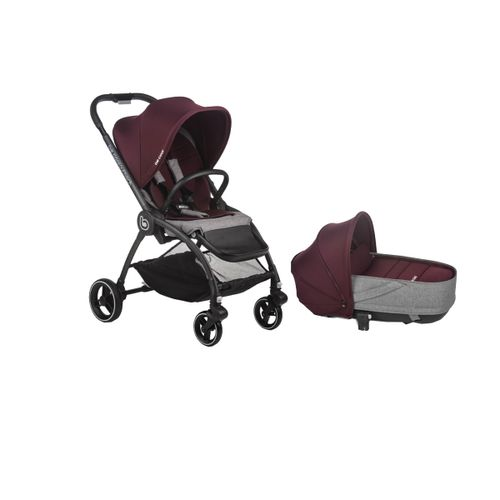 Duo Outback Crib Solid Wine
