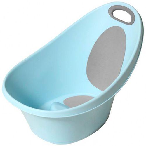 Bañera con Tope y Antideslizante Azul
