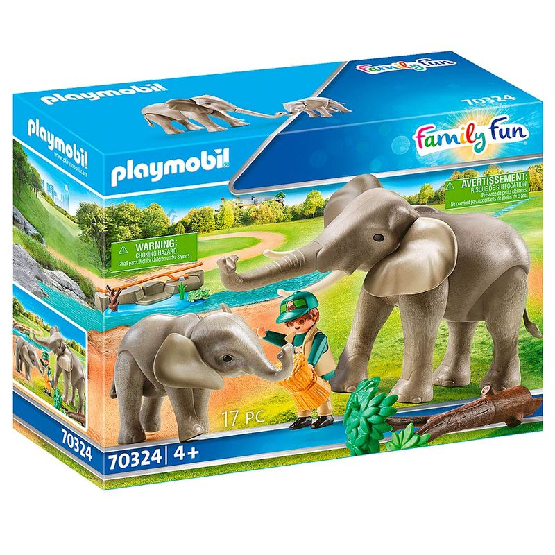 Playmobil-Family-Fun-Recinto-Exterior-de-Elefantes