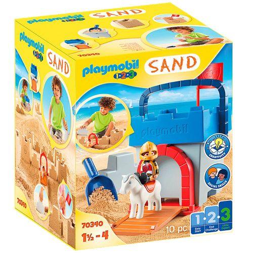 Playmobil 1.2.3 Sand Cubo Castillo