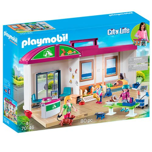 Playmobil City Life Clínica Veterinaria Maletín