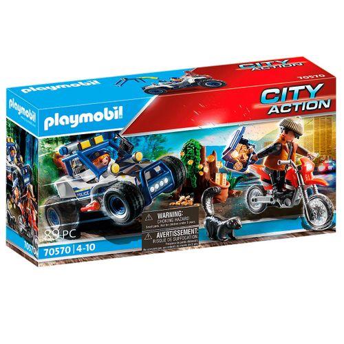 Playmobil City Action Policía Persecución Tesoro
