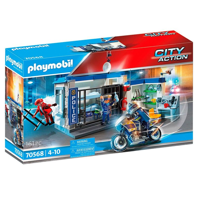 Playmobil-City-Action-Policia--escape-de-prision
