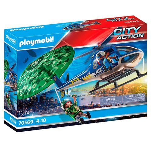 Playmobil City Action Helicóptero Paracaídas