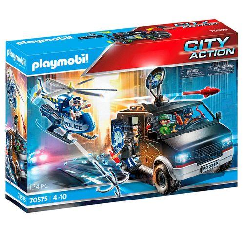 Playmobil City Action Helicóptero Vehículo Huido