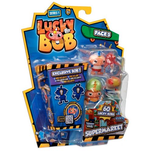 Lucky Bob Pack 5 Figuras Sorpresa