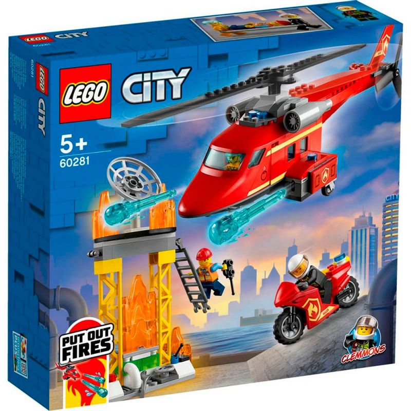 Lego-City-Helicoptero-de-Rescate-de-Bomberos