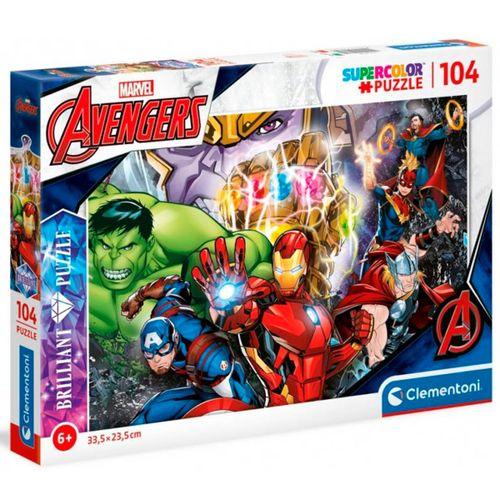 Los Vengadores Puzzle Brillante 104 Piezas