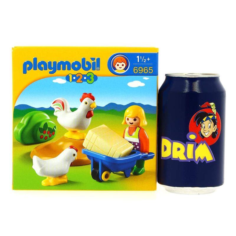 Playmobil-123-Granjera-con-Gallina_3