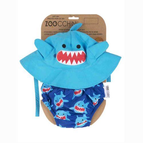 Gorro+Bañador Tiburón 6-12 meses