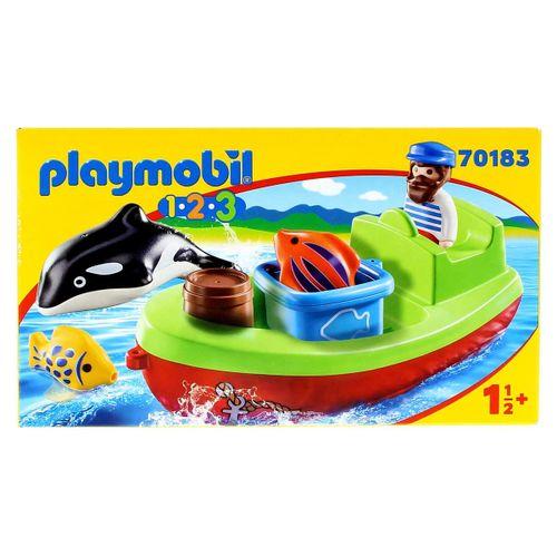 Playmobil 1.2.3 Pescador con Bote