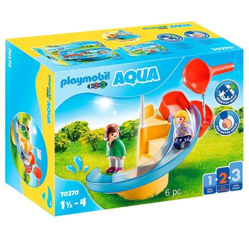 Playmobil 1.2.3 Aqua Tobogán Acuático