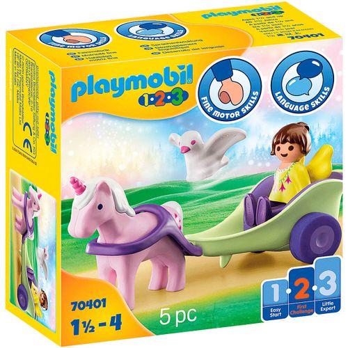 Playmobil 1.2.3 Carruaje Unicornio con Hada