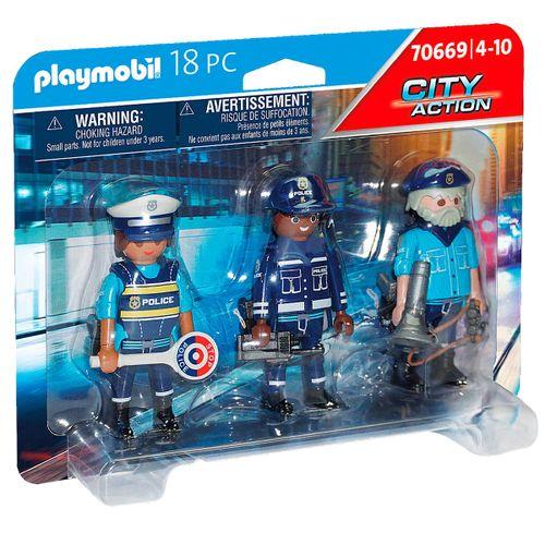 Playmobil City Action Set Figuras Policía