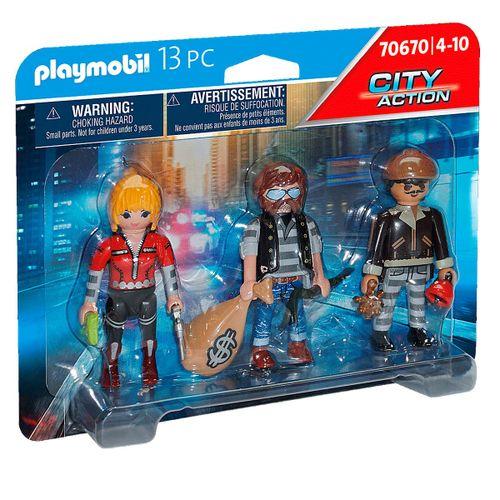 Playmobil City Action Set Figuras Ladrones