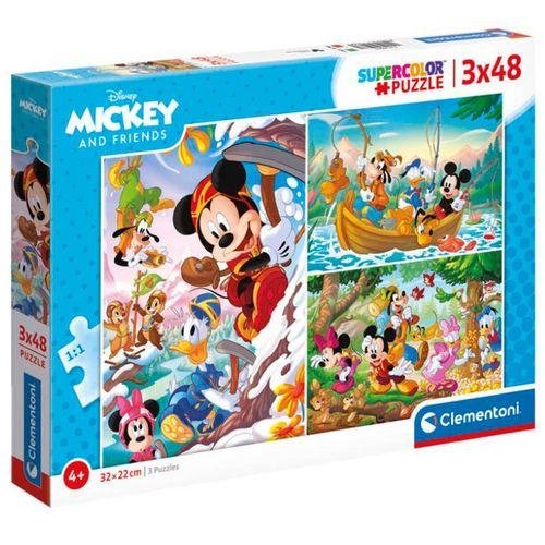 Puzzle Mickey & Friends 3x48 Piezas