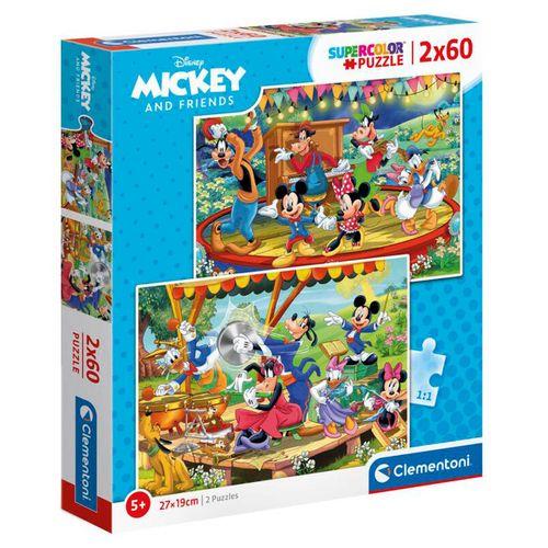 Puzzle Mickey & Friends 2x60 Piezas