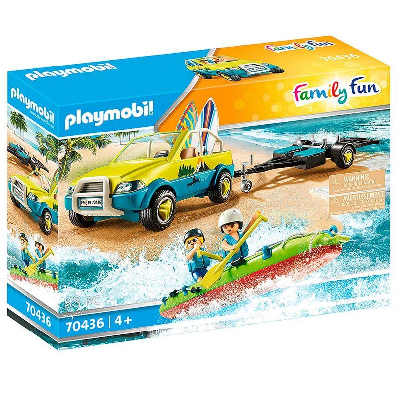 Playmobil-Family-Fun-Coche-de-Playa-con-Canoa