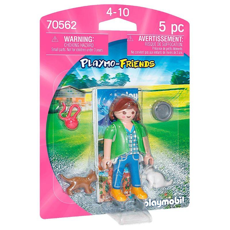 Playmobil-Playmo-Friends-Mujer-con-Gatitos