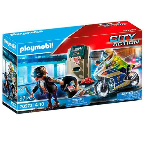 Playmobil City Action Policía Persecución Ladrón