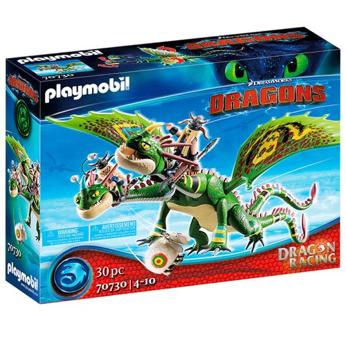 Playmobil Dragons Racing 2 Cabezas Chusco y Brusca