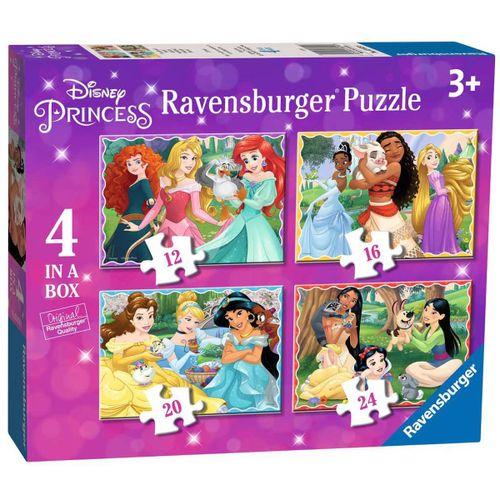 Princesas Disney Puzzle 4 en 1