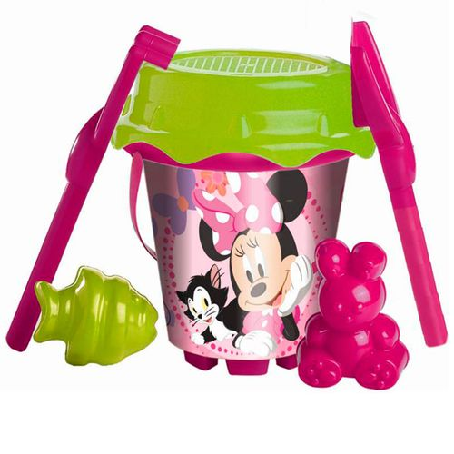 Minnie Mouse Conjunto Cubo Playa + Moldes