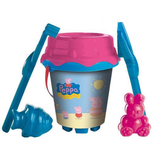 Peppa Pig Conjunto Cubo Playa + Moldes