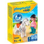 Playmobil-123-Jinete-con-Caballo