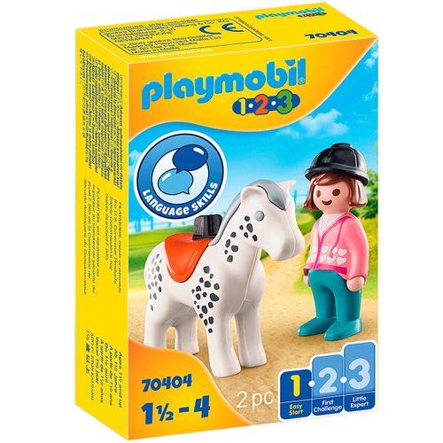 Playmobil 1.2.3 Jinete con Caballo