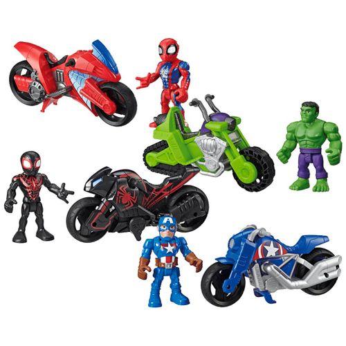 Los Vengadores Hero Adventures Figura + Moto STD