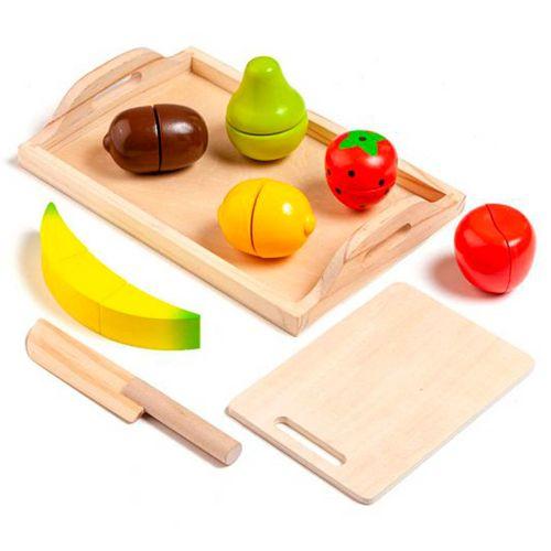 Juego Bandeja Frutas de Madera