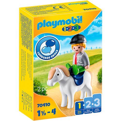 Playmobil 1.2.3 Niño con Poni