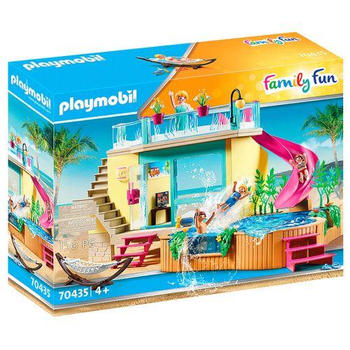 Playmobil Family Fun Bungaló con Piscina