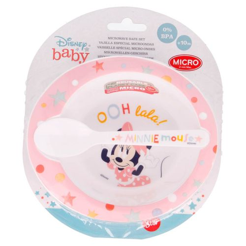 Minnie Mouse Pack Plato + Cuchara Micro