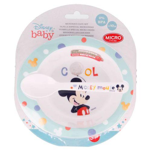 Mickey Mouse Pack Plato + Cuchara Micro