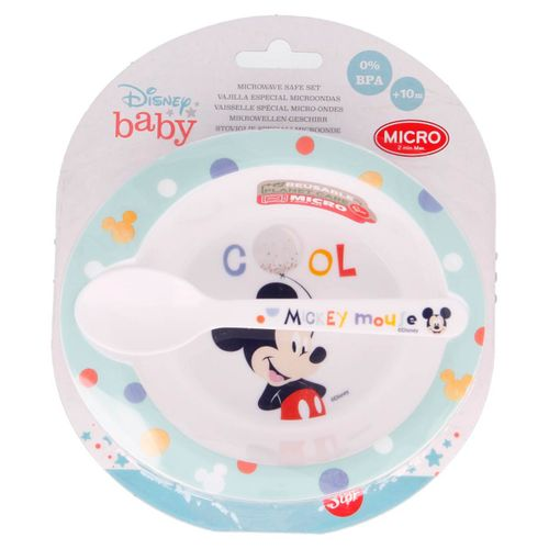 Mickey Mouse Pack Plato + Cuchara Micro