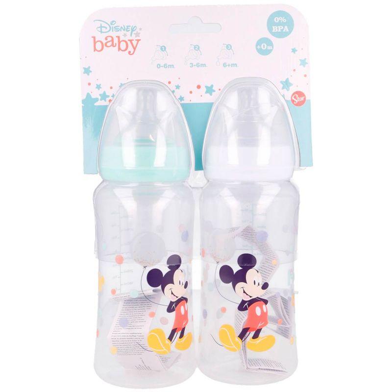 Mickey-Mouse-Pack-2-Biberones-360-ml