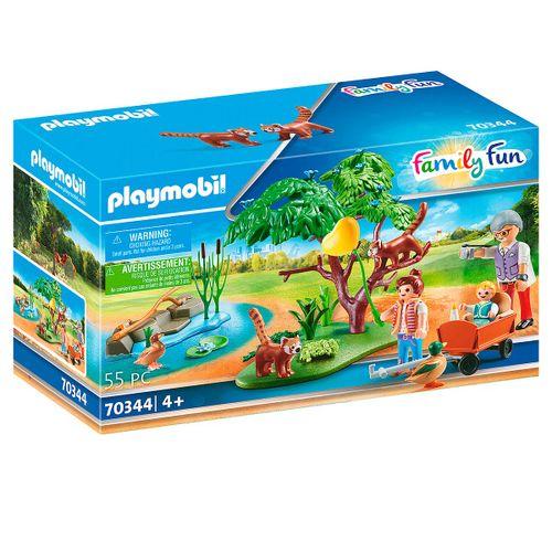 Playmobil Family Fun Recinto Exterior Pandas Rojos