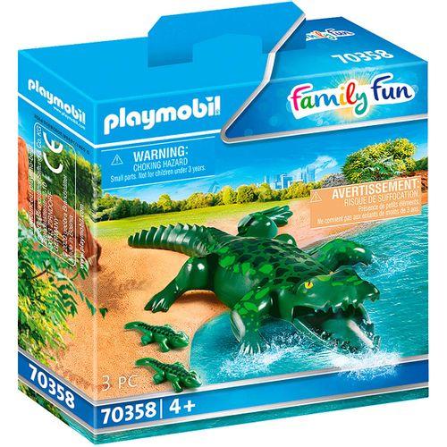 Playmobil Family Fun Cocodrilos con Bebé