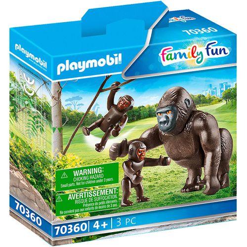 Playmobil Family Fun Gorila con Bebés
