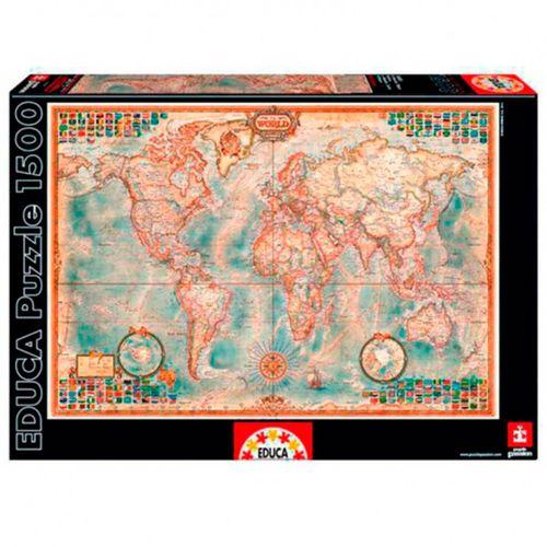 Mundo Mapa Político Puzzle 1500 Piezas