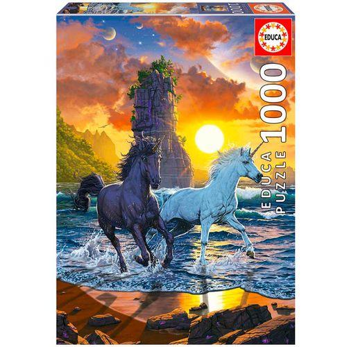 Unicornios en la Playa Puzzle 1000 Piezas