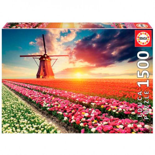 Paisaje de Tulipanes Puzzle 1500 Piezas
