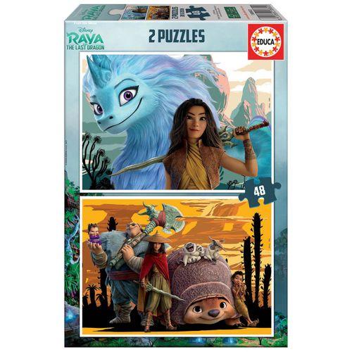 Raya y el Último Dragón Puzzle 2x48 Piezas